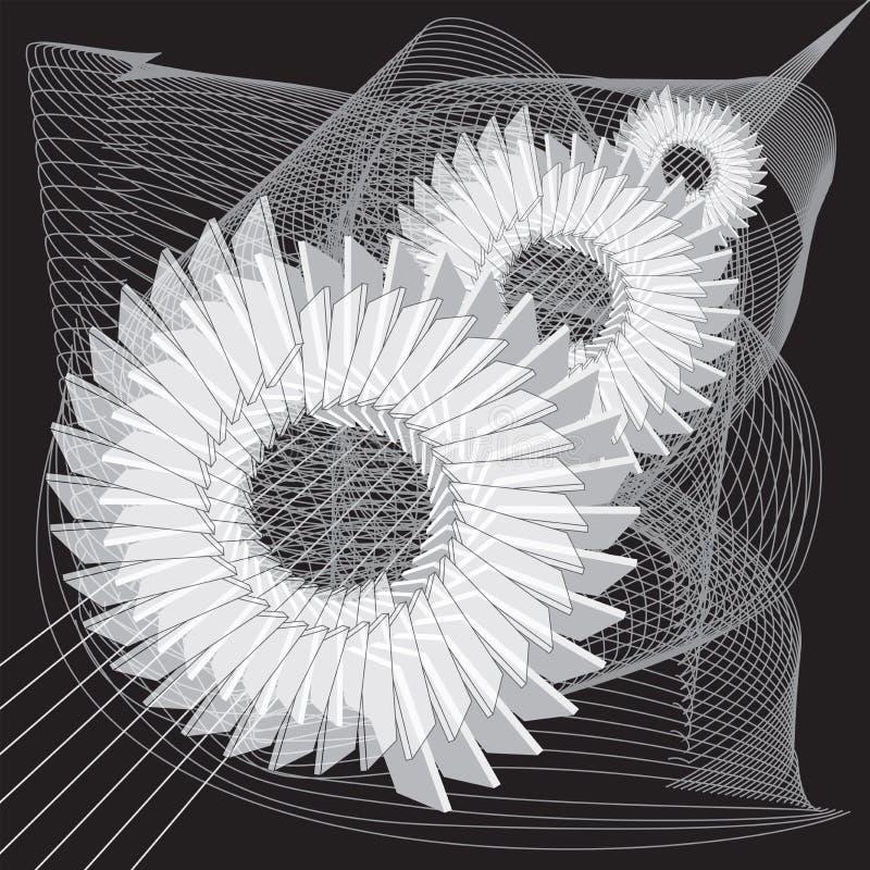 Fondo abstracto mec?nico Im?genes estilizadas de engranajes ilustración del vector