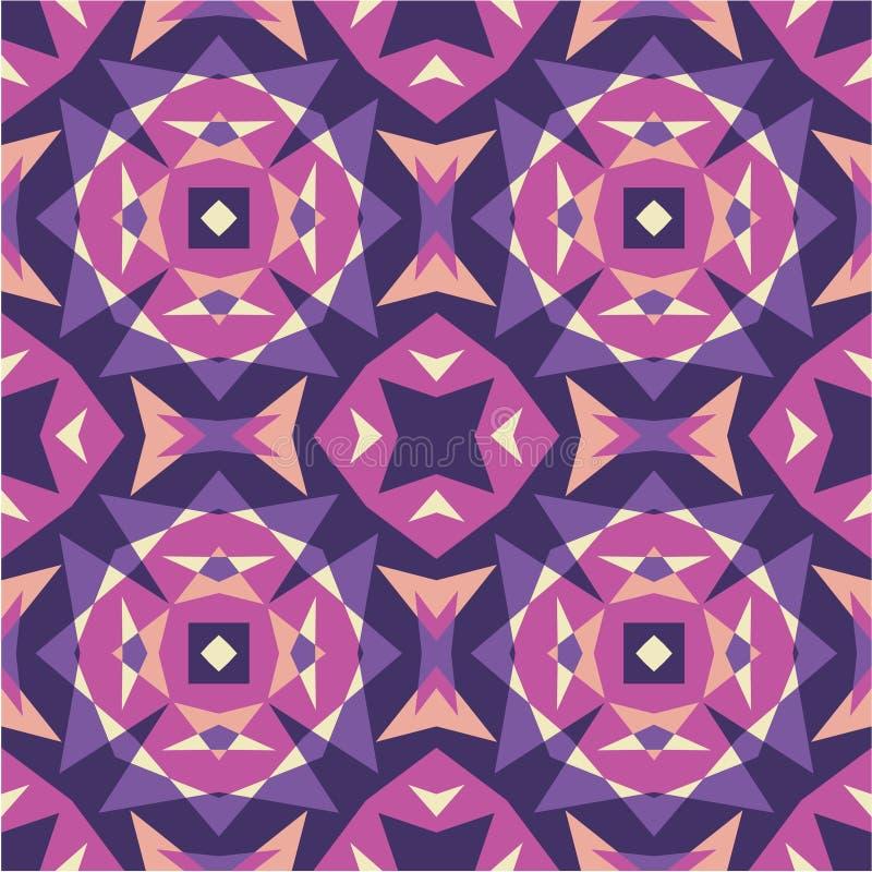 Fondo abstracto - modelo inconsútil geométrico del vector stock de ilustración