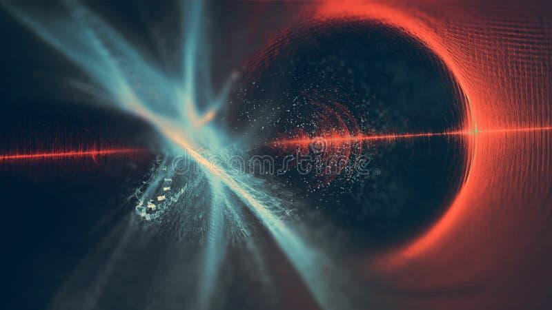 Fondo abstracto moderno ligero de las ilustraciones del fractal de la fantasía del espacio foto de archivo libre de regalías