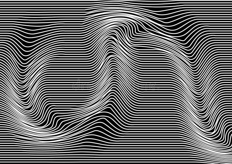 Fondo abstracto monocromático con las lineas horizontales paralelas Textura rayada Vector ilustración del vector
