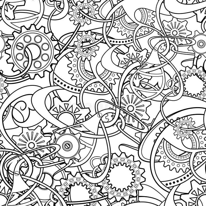 Fondo abstracto monocromático inconsútil del vector ilustración del vector