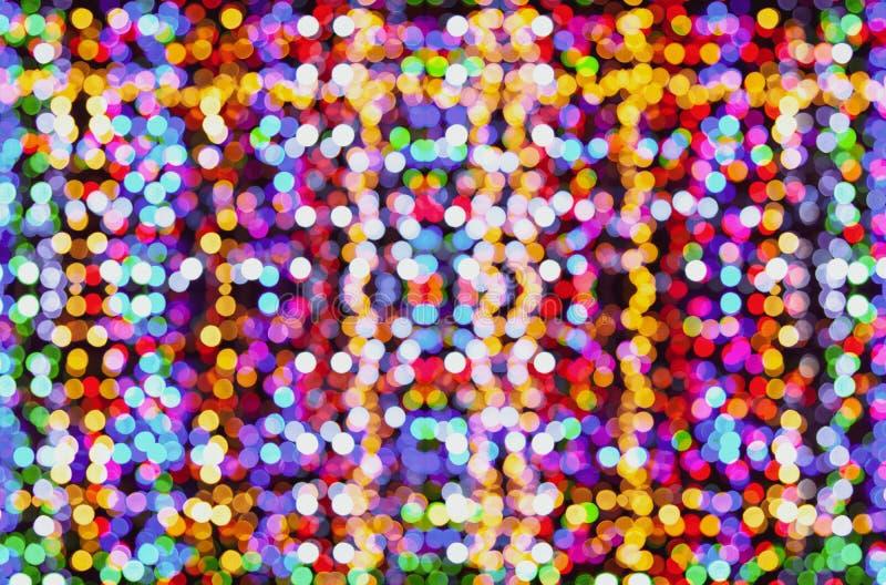 Fondo abstracto, muchas luces coloreadas brillantes fotografía de archivo libre de regalías