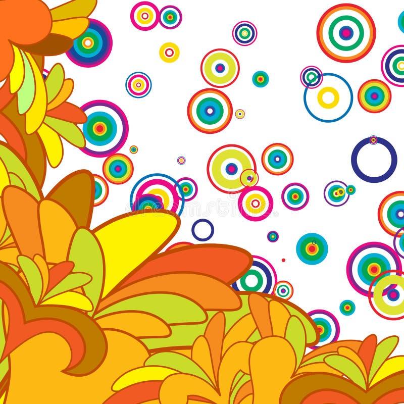 Fondo abstracto multicolor stock de ilustración