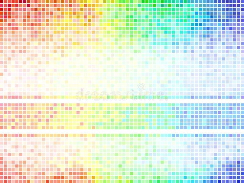 Fondo abstracto multicolor del azulejo ilustración del vector