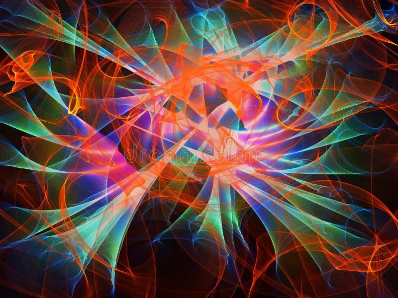 Fondo abstracto multicolor, textura con las ondas, ejemplo digital libre illustration