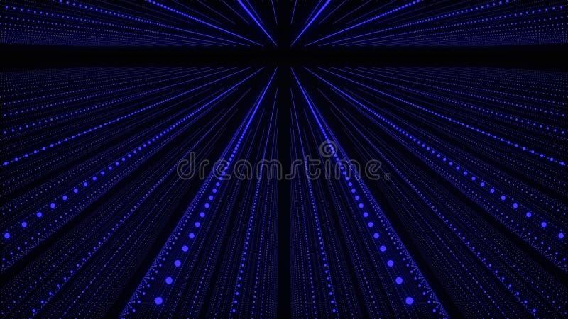 Fondo abstracto musical Pasillo de las ondas ac?sticas Entrelazamiento de las part?culas de los sonidos representaci?n 3d libre illustration