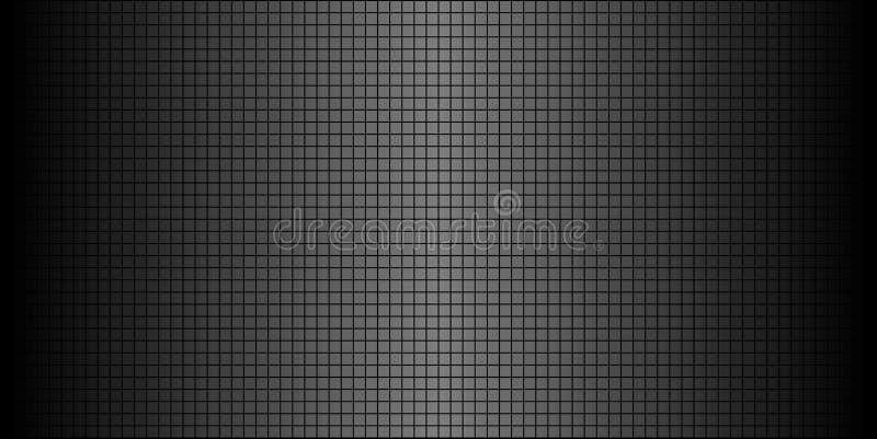 Fondo abstracto negro brillante del mosaico stock de ilustración