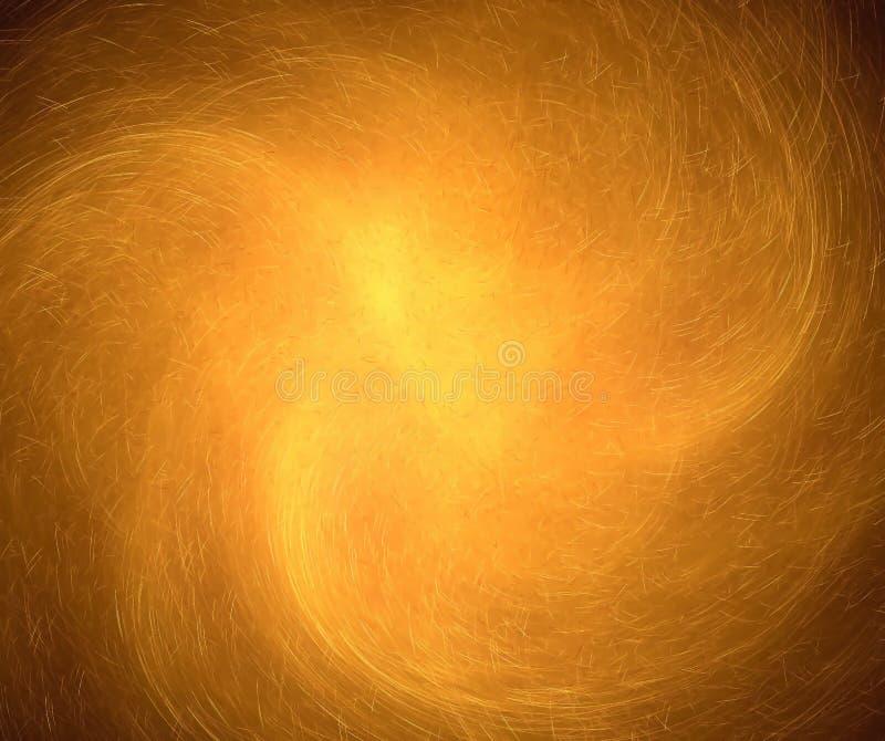 Fondo abstracto negro con textura de las chispas del fuego Yel giratorio ilustración del vector