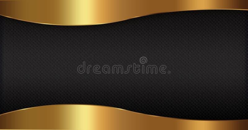 Fondo abstracto negro del oro libre illustration