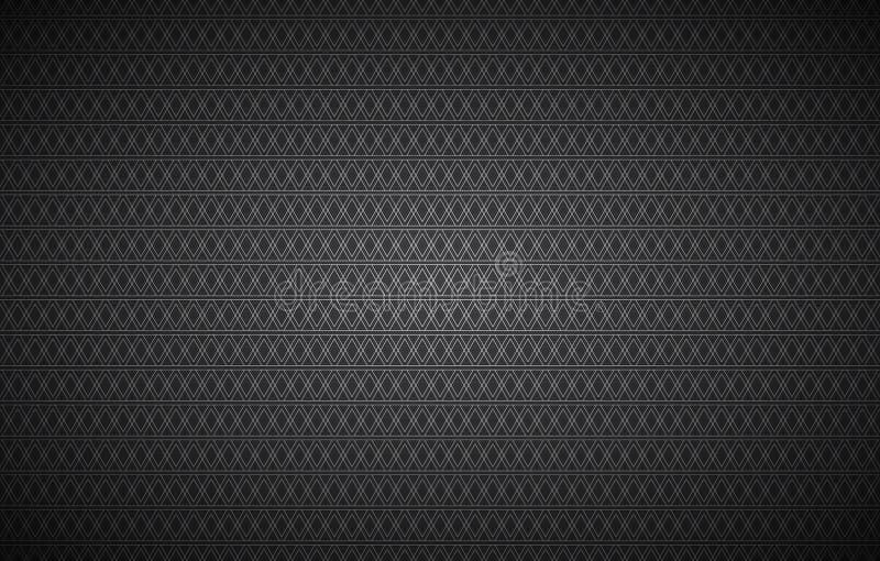 Fondo abstracto negro, modelo inconsútil integrado por triángulos, fondo con pantalla grande del vintage del vector libre illustration