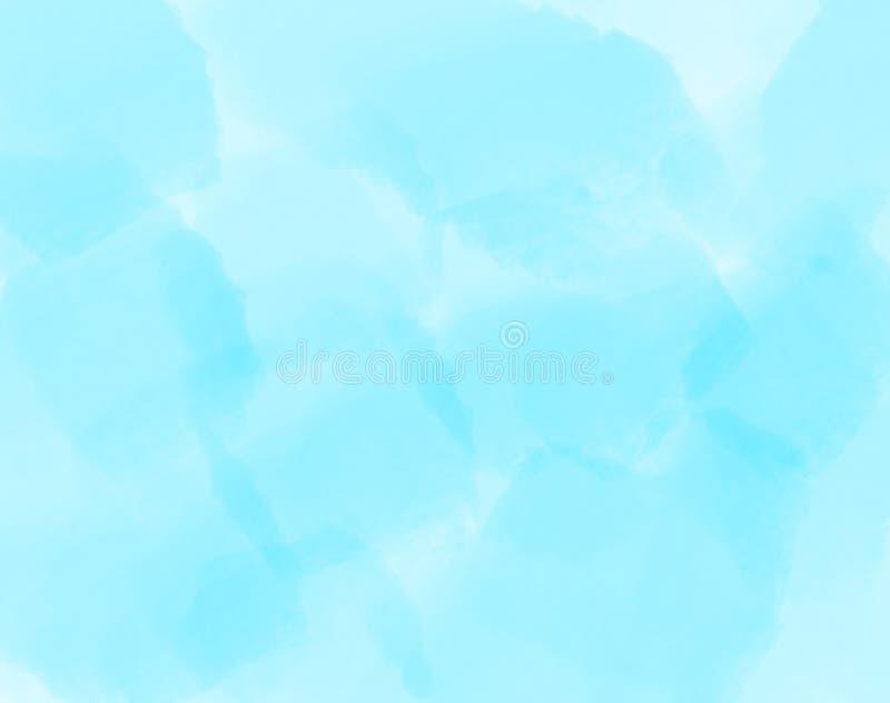 Fondo abstracto nublado azul Contexto vacío con el lugar para el texto Abstracción azul del color con el movimiento del cepillo ilustración del vector