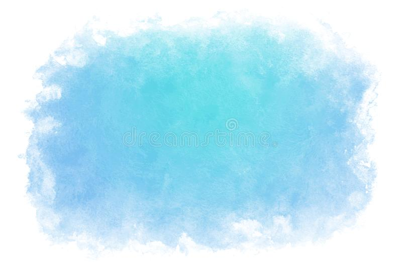 Fondo abstracto o natural del agua azul del verano del color de la pendiente de la acuarela de la pintura libre illustration