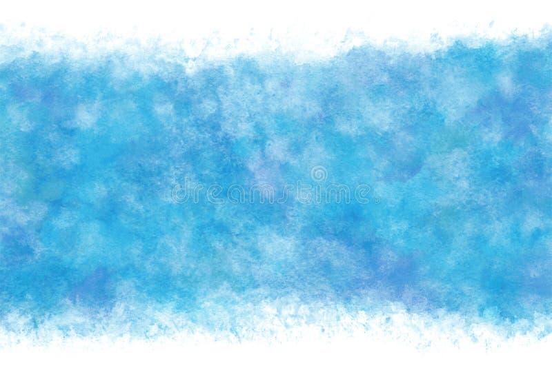 Fondo abstracto o natural del agua azul del verano del color en colores pastel de la acuarela de la mano de la pintura, ejemplo d libre illustration