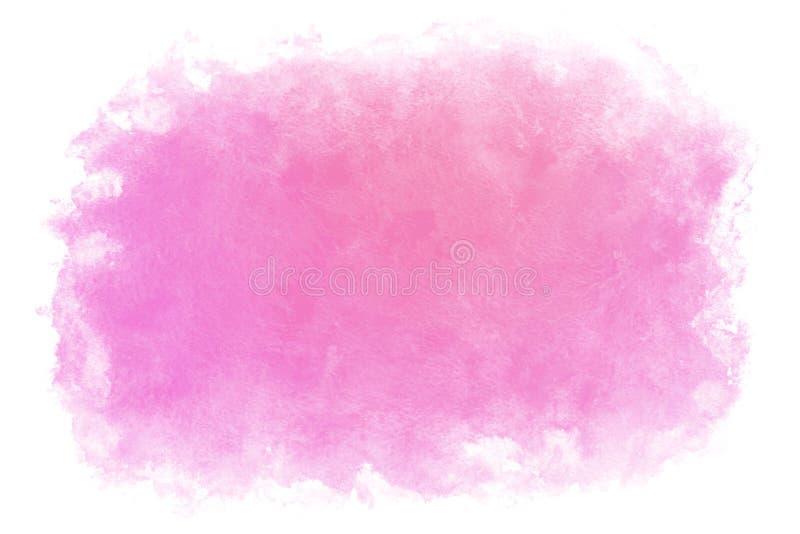 Fondo abstracto o natural del agua púrpura de la primavera del color de la pendiente de la acuarela de la pintura ilustración del vector