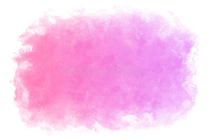 Fondo abstracto o natural del agua del rosa de la primavera del color de la pendiente de la acuarela de la pintura ilustración del vector