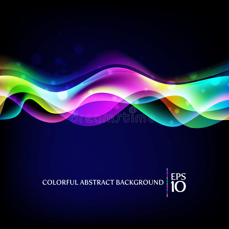 Fondo abstracto - ondas coloridas stock de ilustración