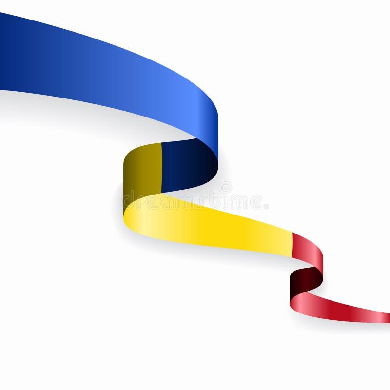 Fondo abstracto ondulado de la bandera rumana Ilustraci?n del vector libre illustration