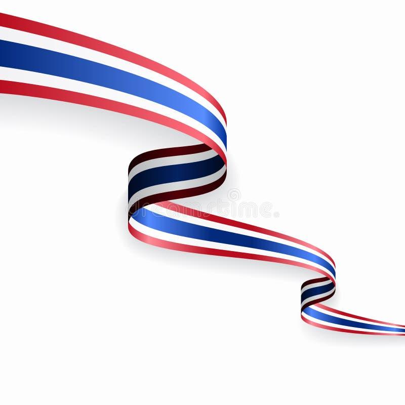 Fondo abstracto ondulado de la bandera tailandesa Ilustraci?n del vector stock de ilustración