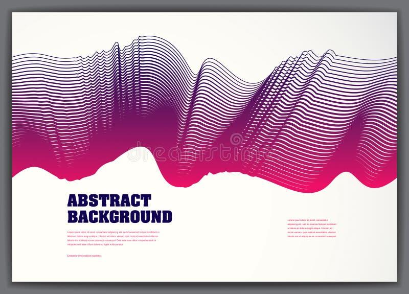 Fondo abstracto ondulado del flujo flúido del vector pendiente colorida 3d ilustración del vector