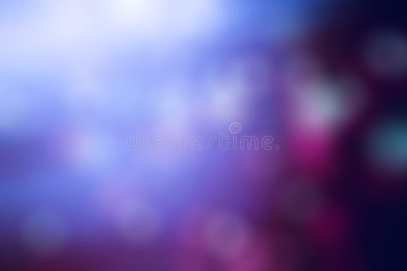 Fondo abstracto púrpura azul de la textura Bokeh, pendiente fotografía de archivo