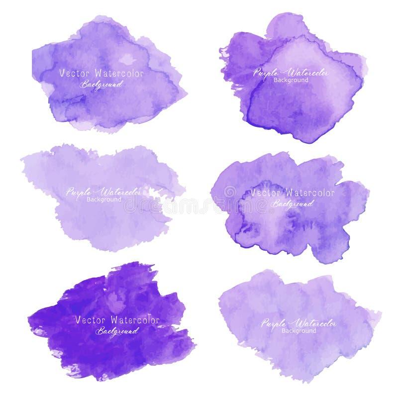 Fondo abstracto púrpura de la acuarela Elemento de la acuarela para la tarjeta ilustración del vector
