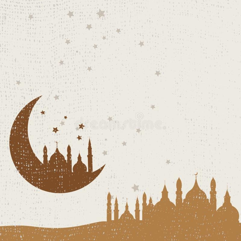 Fondo abstracto para Ramadan Kareem, ilustración del vector