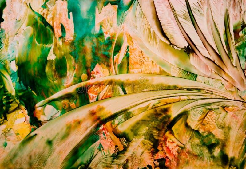 Fondo abstracto pintado stock de ilustración