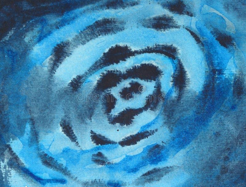 Fondo abstracto - pintura del watercolour ilustración del vector