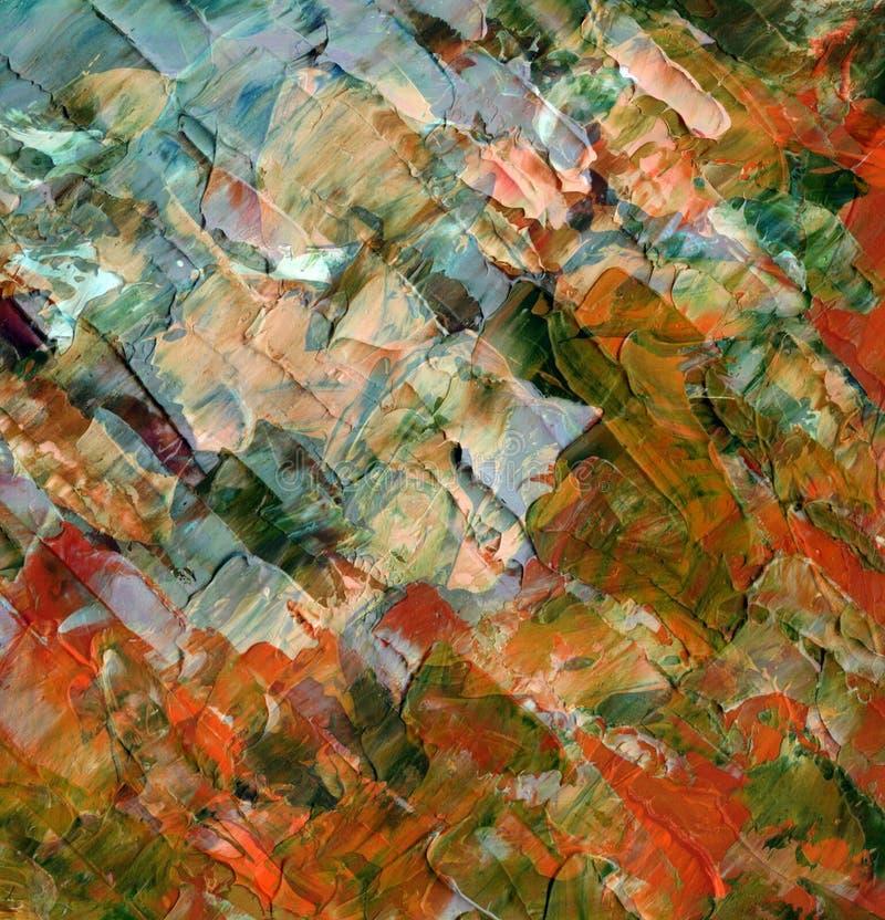 Fondo abstracto, pinturas de petróleo stock de ilustración