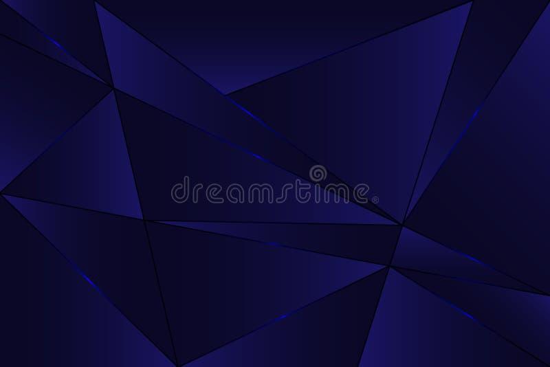 Fondo abstracto poligonal Textura geométrica Modelo del polígono libro de la cubierta 3d Ilustración del vector Diseño de la cubi ilustración del vector