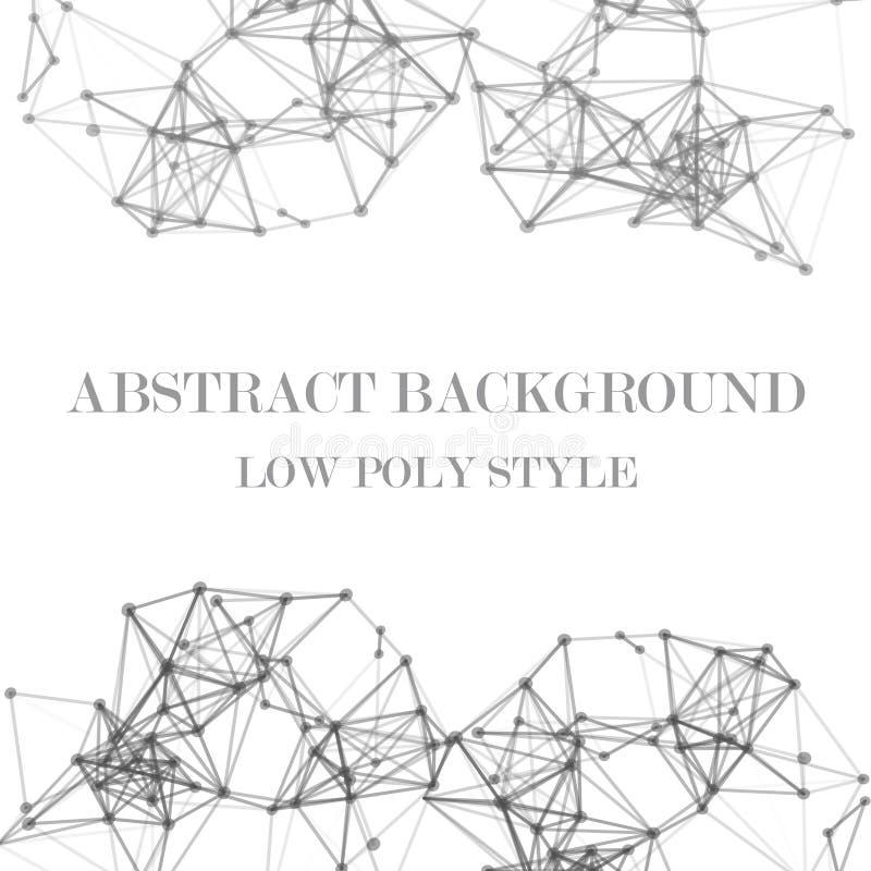 Fondo abstracto polivinílico bajo ilustración del vector