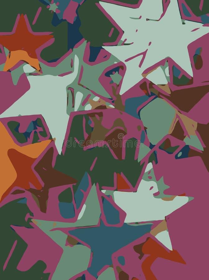 Fondo abstracto por completo de las estrellas para el diseño y la impresión stock de ilustración