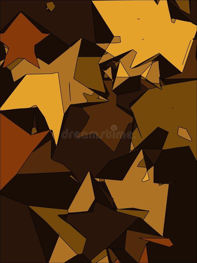Fondo abstracto por completo de las estrellas para el diseño y la impresión libre illustration