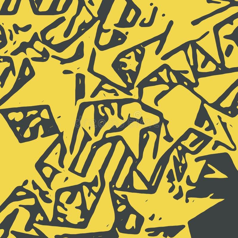Fondo abstracto por completo de las estrellas para el diseño y la impresión ilustración del vector