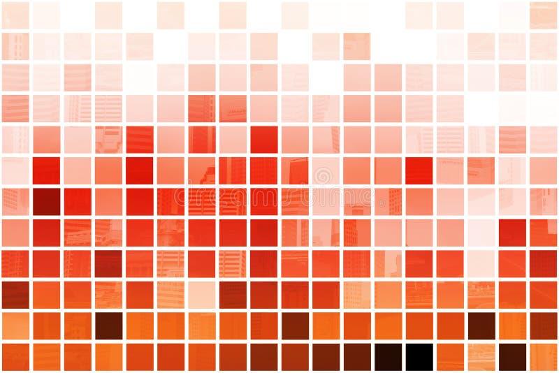 Fondo abstracto profesional cúbico anaranjado ilustración del vector