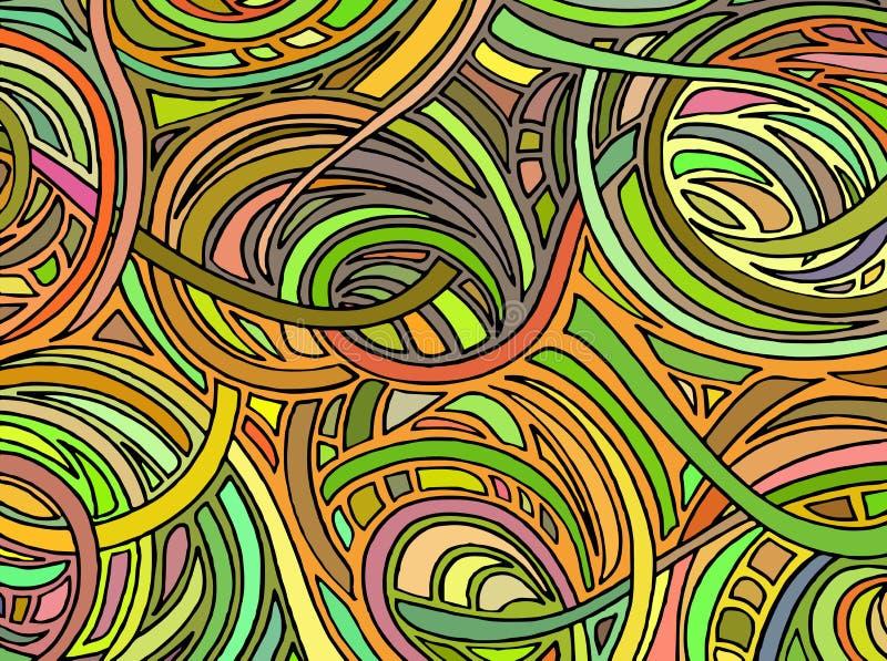Fondo abstracto que consiste en diversas formas Vector libre illustration