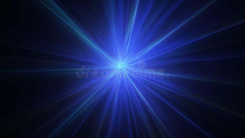 Fondo abstracto radial azul de los rayos ligeros libre illustration