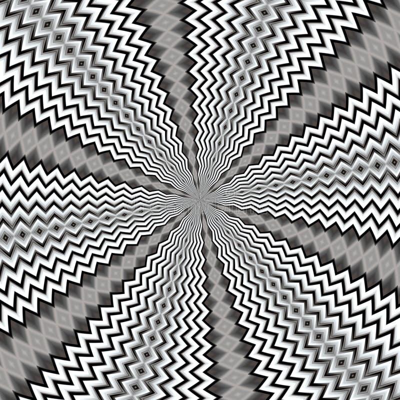 Fondo abstracto radiante en las tonalidades de plata ilustración del vector