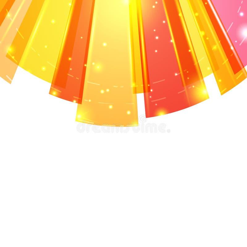 Fondo abstracto redondo brillante del rojo anaranjado stock de ilustración