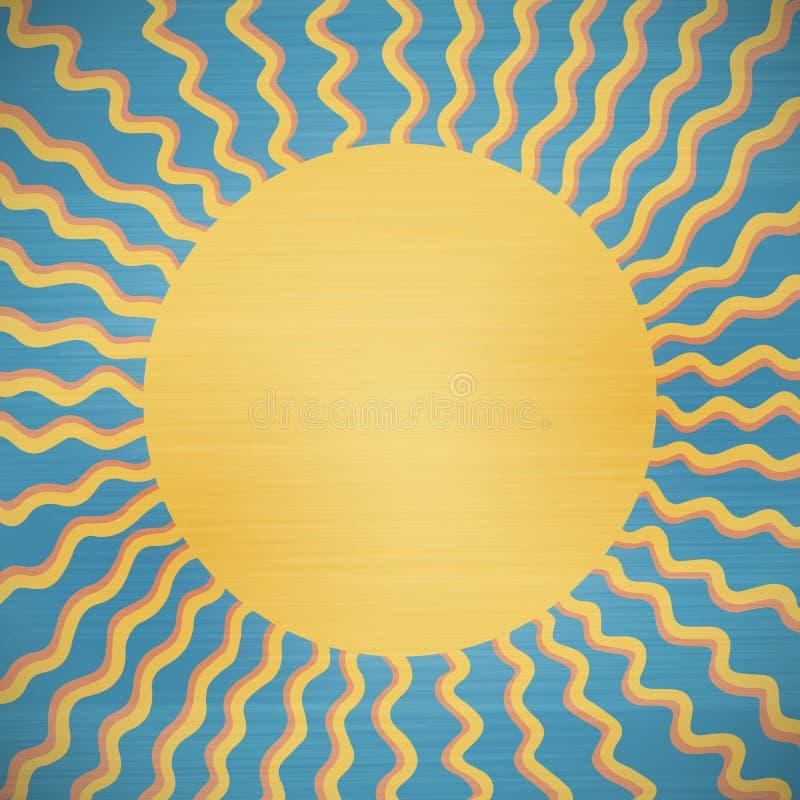 Fondo abstracto retro del sol stock de ilustración