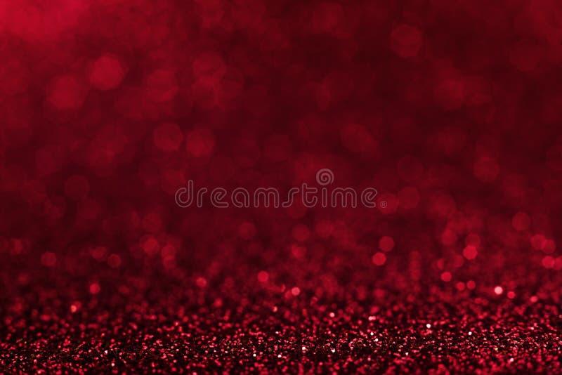 Fondo abstracto rojo brillante de la Navidad Brillo rojo imagen de archivo libre de regalías