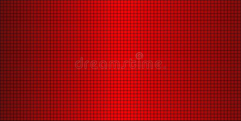 Fondo abstracto rojo brillante del mosaico stock de ilustración