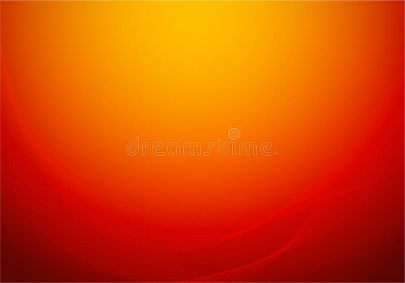 Fondo abstracto rojo colorido como las cortinas de seda calientes de lujo Papel pintado del vector libre illustration