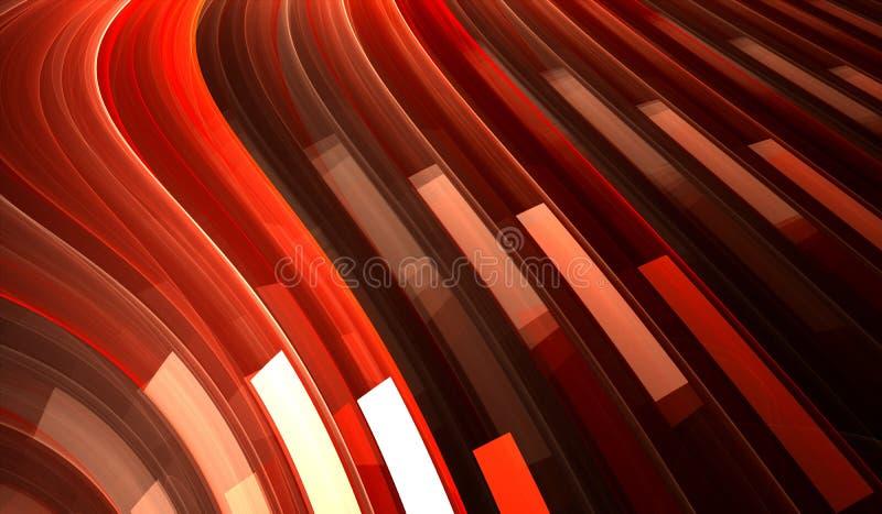 Fondo abstracto rojo con las rayas ilustración del vector