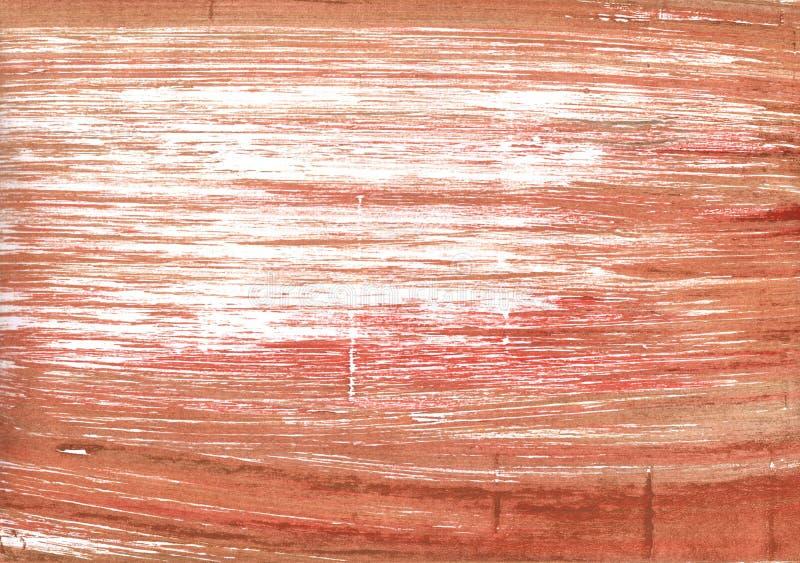 Fondo abstracto rojo de cobre de la acuarela fotografía de archivo