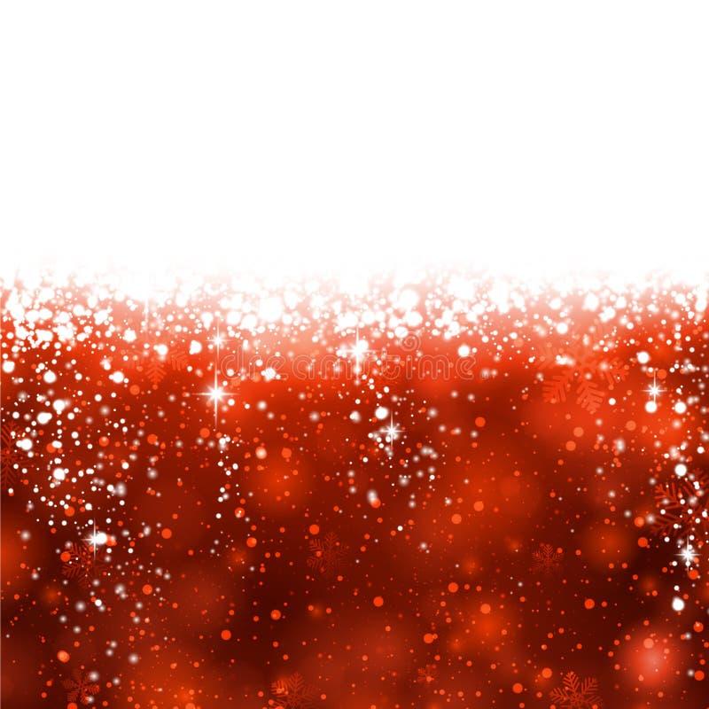 Fondo abstracto rojo de la Navidad. ilustración del vector