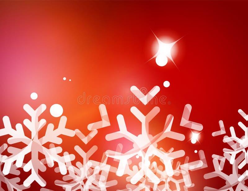 Fondo abstracto rojo de la Navidad con blanco libre illustration