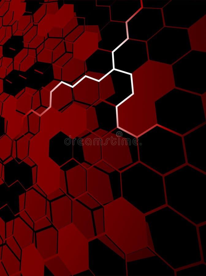 Fondo abstracto rojo del hexágono libre illustration