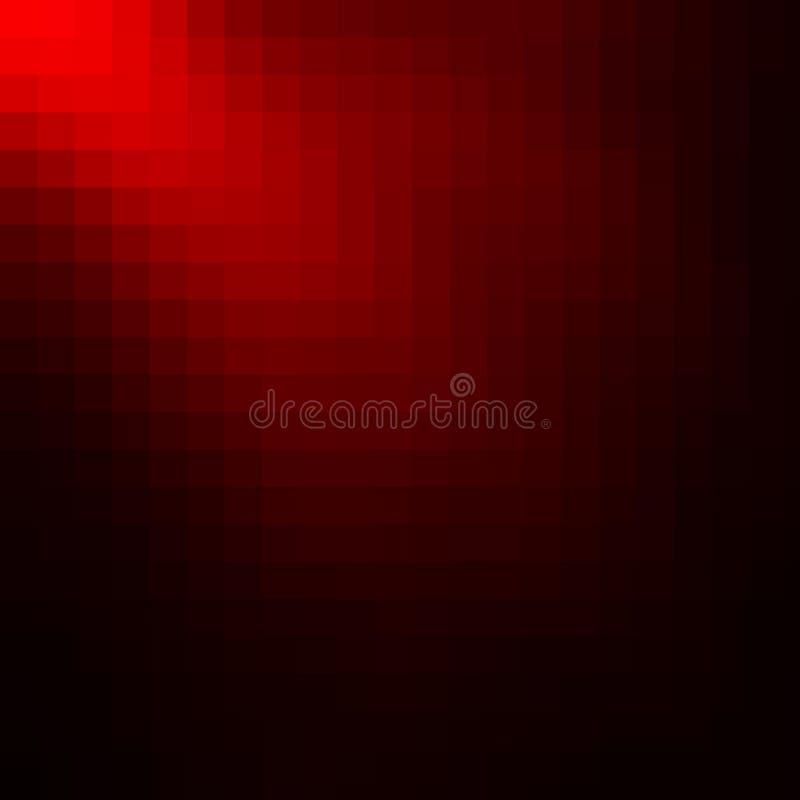 Fondo abstracto rojo del mosaico stock de ilustración