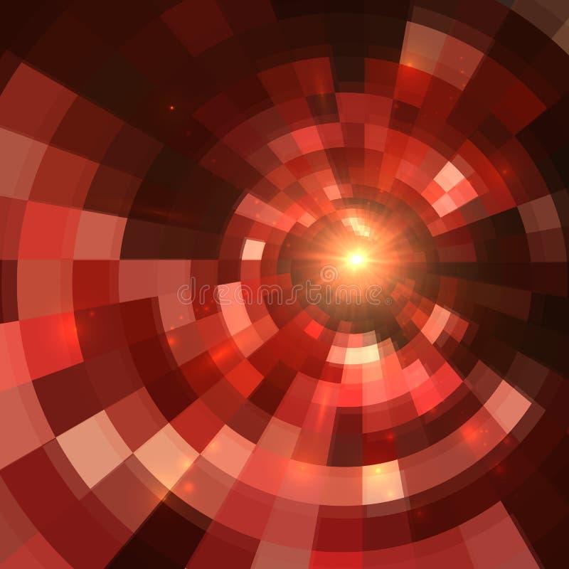 Fondo abstracto rojo del mosaico del círculo del vector libre illustration